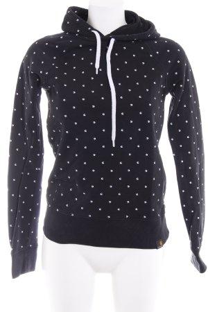 Carhartt Kapuzensweatshirt schwarz-weiß Monogram-Muster sportlicher Stil