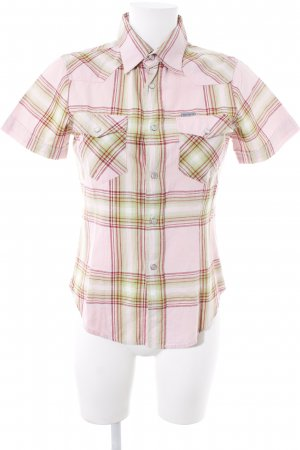 Carhartt Short Sleeve Shirt glen check pattern business style