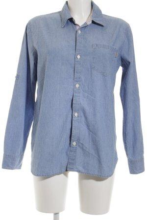 Carhartt Langarm-Bluse kornblumenblau Casual-Look