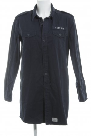 Carhartt Camicia a maniche lunghe blu scuro stile da pattinatore