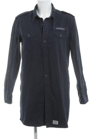 Carhartt Langarmhemd dunkelblau Skater-Look