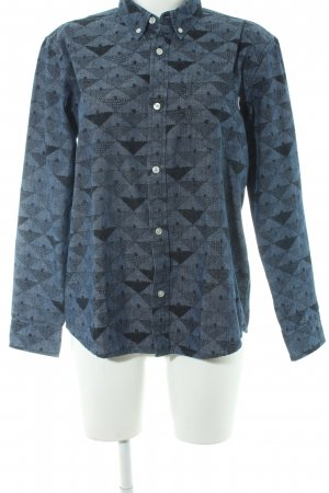 Carhartt Camisa de manga larga azul acero-negro estampado azteca