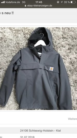 Carhartt Windbreaker anthracite