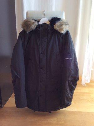 Carhartt Manteau à capuche brun noir-brun foncé
