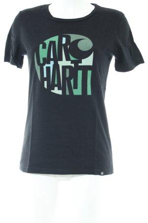 Carhartt Print-Shirt blau Motivdruck Casual-Look