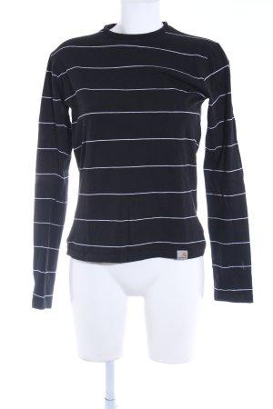 Carhartt Ringelshirt schwarz-weiß Streifenmuster Street-Fashion-Look