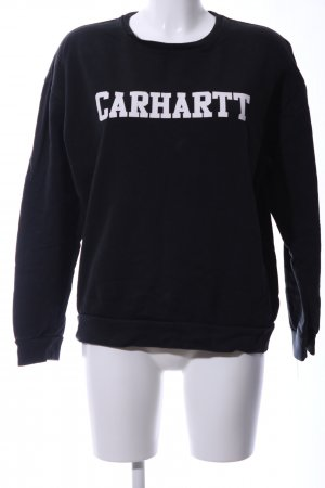Carhartt Crewneck Sweater black-white printed lettering casual look