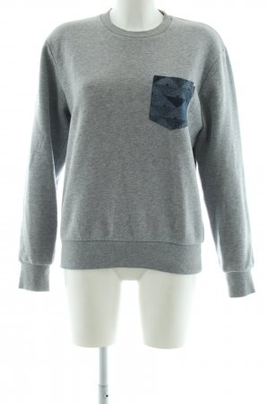 Carhartt Crewneck Sweater light grey flecked casual look