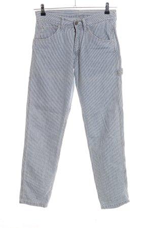 Carhartt Straight-Leg Jeans blau-weiß Streifenmuster Casual-Look