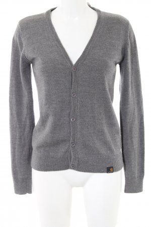 Carhartt Knitted Cardigan light grey flecked casual look