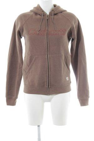 Carhartt Sweat Jacket light brown casual look