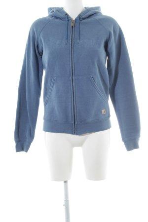 Carhartt Sweatjacke kornblumenblau Casual-Look