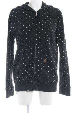 Carhartt Sweatjacke schwarz-weiß grafisches Muster Casual-Look