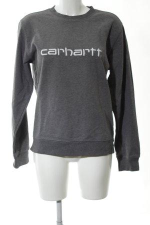 Carhartt Sweatshirt schwarz meliert Casual-Look