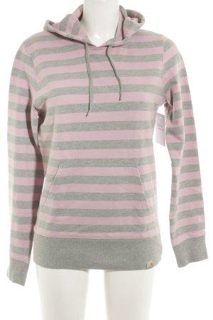 Carhartt Sweatshirt grau-rosé Streifenmuster Casual-Look