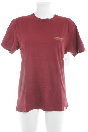 Carhartt T-Shirt dunkelrot Motivdruck Casual-Look