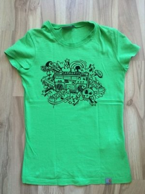 Carhartt t-shirt Größe xs/34 w' s/s sellwell grün oberteil wie neu