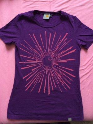 Carhartt t-shirt oberteil shirt lila pink größe xs 34 Shirt