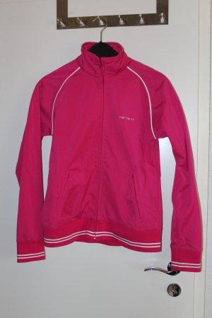 Carhartt Veste de sport rouge framboise-blanc fibre synthétique