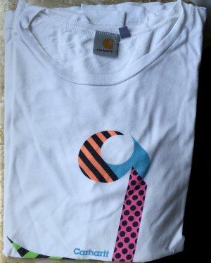 Carhartt W' S/S Pop Logo T-SHIRT white multicolor