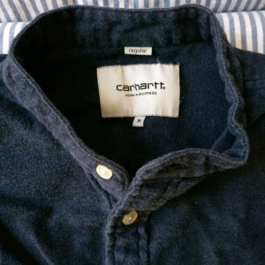 Carhartt WIP Hemd dunkelblau Flanell Karos