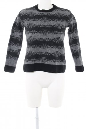 Carhartt Wool Sweater black-light grey graphic pattern casual look