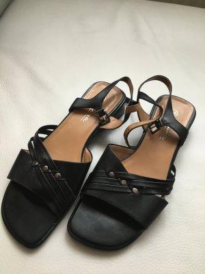 Sandalen met bandjes zwart Gemengd weefsel