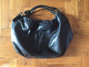 Pouch Bag black leather