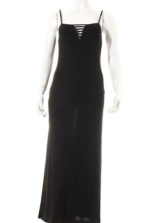 Carla Carini Trägerkleid schwarz Elegant