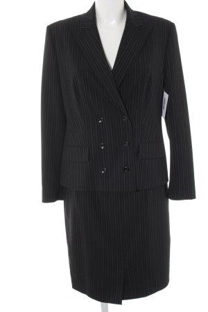 Carla Degen Kostüm schwarz-weiß Nadelstreifen Business-Look