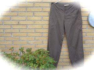 Pantalone cargo marrone-grigio Fibra tessile