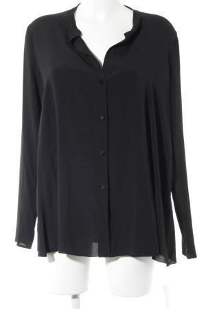 Carla G. Langarm-Bluse schwarz Elegant