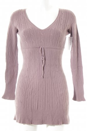 Carla Positano V-Neck Sweater grey violet casual look
