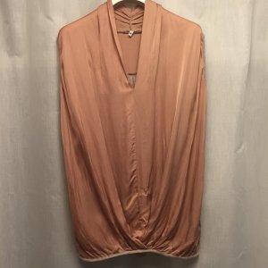Mouwloze blouse abrikoos-zalm Gemengd weefsel