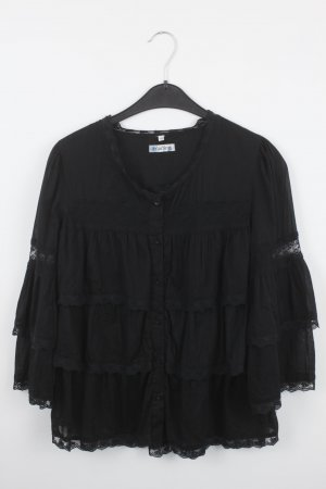 Carling Ruffled Blouse black cotton