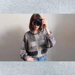carlo colucci designer strickpulli geometrisch graphisch unisex oversize