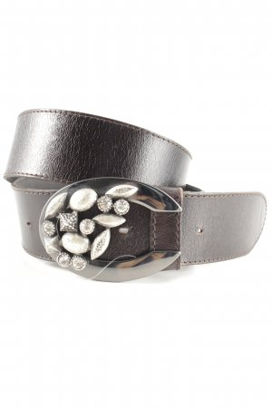 Carlo Colucci Cintura di pelle marrone-rosso-marrone-nero elegante