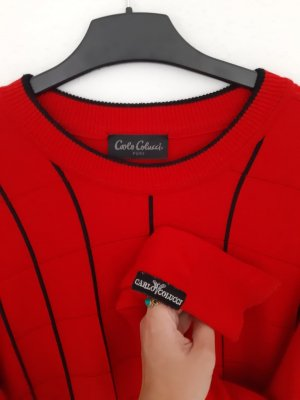 Carlo Colucci Jersey holgados rojo-negro Algodón