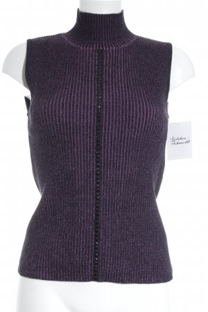 Carlo Colucci Knitted Top black-lilac flecked elegant