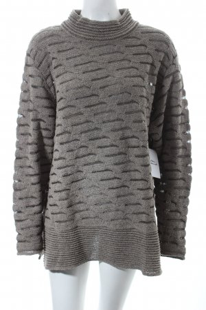 Carlo Colucci Wollpullover dunkelgrau Mustermix Street-Fashion-Look