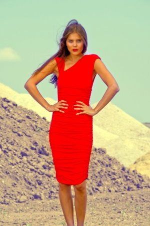 CARLOTTA Jerseykleid von LOUISA OKONYE, Größe 34/36 *SALE*