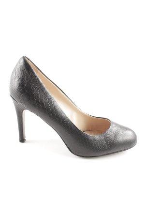 Carma Shoes High Heels schwarz Allover-Druck Casual-Look