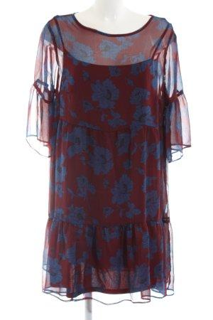 Carmakoma Flounce Dress red-blue allover print casual look
