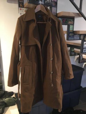 Carmel Brown Wool Trench