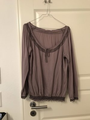 Bloom Carmen Blouse grey-slate-gray