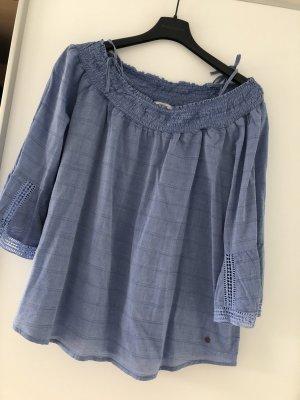 Tchibo / TCM Carmen blouse azuur-korenblauw