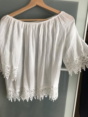 Carmen blouse wit
