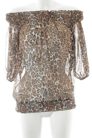 Carmen Blouse animal pattern casual look