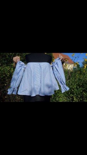 Carmen Bluse Ausschnitt off shoulder schulterfrei offshouder ZARA Größe M