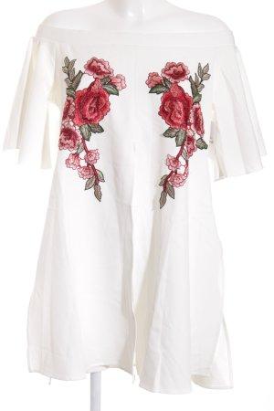 Carmen-Bluse Blumenmuster Romantik-Look